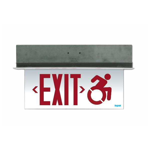 OL2-CT Connecticut Approved Edge-lit Exit Sign