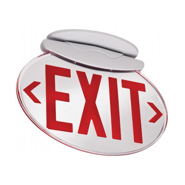 SOLO Oval Edge-lit Exit Sign